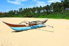 Boat local fishermen, Sri Lanka Royalty Free Stock Images