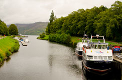 Boat in Loch Ness. Royalty Free Stock Images