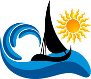 Boat logo stock illustration