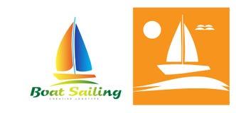 Boat logo Royalty Free Stock Image