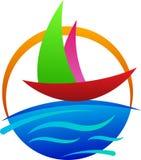Boat logo. A vector drawing represents boat logo design stock illustration