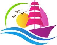 Boat logo. A vector drawing represents boat logo design Stock Photo