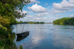 Boat on the Loire Royalty Free Stock Photos