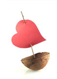 Boat of love. Image from creative series: boat of love royalty free stock images