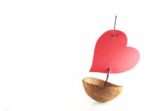 Boat of love Stock Images