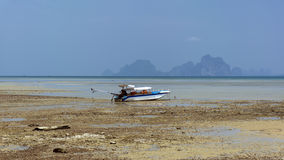 Boat, Low Tide. Royalty Free Stock Photos