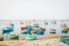 Boat on Ly Son island Royalty Free Stock Image