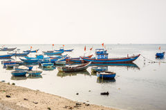 Boat on Ly Son island Royalty Free Stock Images