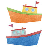 Boat made from recycled paper Royalty Free Stock Photo