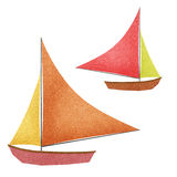 Boat made from recycled paper Stock Photography
