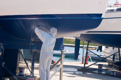 Boat in maintenance Royalty Free Stock Photo