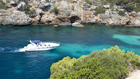 Boat in Majorca coast Stock Photography