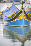Boat in malta. Peculiar mood of a small harbor in malta Royalty Free Stock Photography