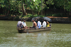 A boat man transport people Stock Photo
