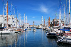 Free Boat Marina And Lighthouse In Trieste, Italy Royalty Free Stock Photo - 84186505