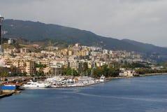 Boat marina and coastal scene Stock Image