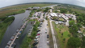 Boat marina in the Everglades stock video footage
