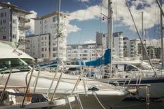 Boat marina in Helsingborg Stock Photography