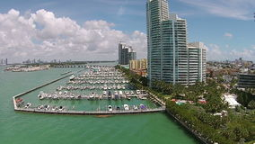 Boat marina Miami Beach stock video