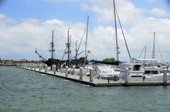 Boat marina, St. Augustine, Florida Stock Image