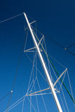 Boat mast blue sky Stock Photography