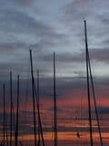 Boat mast stock photography