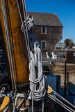 Boat mast with ropes Stock Image
