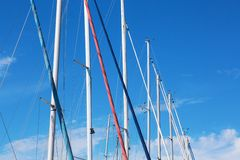 Boat masts Royalty Free Stock Image