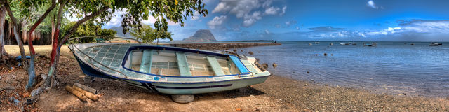 Boat on Mauritius Stock Photo