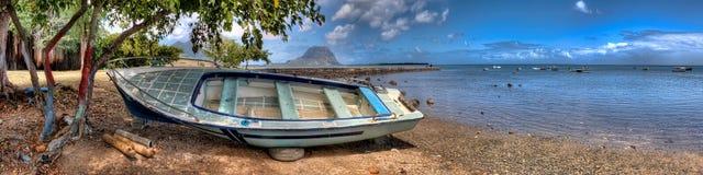 Boat on Mauritius Stock Photo