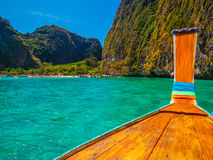Boat in Maya Bay Stock Photo