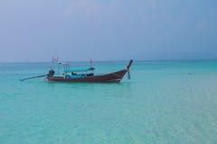 Boat in MAYA bay Stock Photos