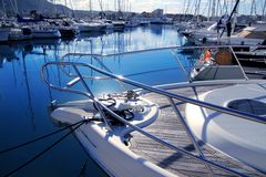 Boat mediterranean marina in Denia Alicante Spain Royalty Free Stock Image