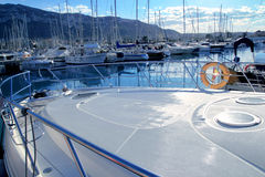 Boat mediterranean marina in Denia Alicante Spain Royalty Free Stock Photography