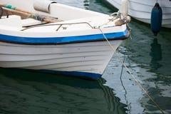 Boat at the Mediterranean sea port Stock Photos