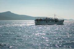Boat on Mediterranean Sea Royalty Free Stock Photo