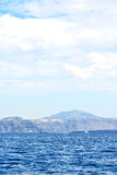 From the boat in mediterranean sea  sky Royalty Free Stock Images