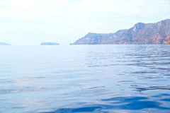 From the boat  mediterranean sea  sky Stock Photography