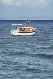 Boat in the Mediterranean Sea. Royalty Free Stock Photo