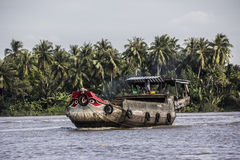 Boat in the mekong delta Royalty Free Stock Image