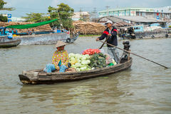 Boat on the Mekong River, Vietnam Stock Photo
