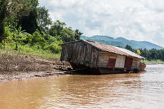 Boat on Mekong River Royalty Free Stock Photography