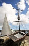 Boat memory monument in Kinsale Royalty Free Stock Photography
