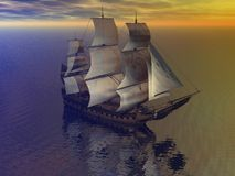 Boat merchant Royalty Free Stock Images