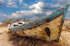 The boat with the mermaid Royalty Free Stock Photo