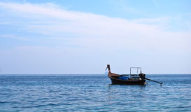 A boat in the middle of the sea, Thailand Stock Images