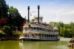 Boat on the Mississippi - Disneyland Paris Royalty Free Stock Photo