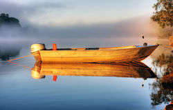 A boat in mist Royalty Free Stock Image
