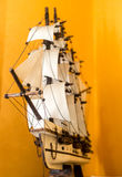 Boat model. Small wooden ship. Stock Image