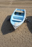 Boat moored on beach Stock Images
